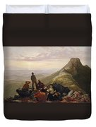 The Belated Party On Mansfield Mountain Duvet Cover