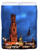 The Belfort Tower, Belfry, Bruges City, West Flanders Duvet Cover