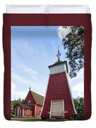 The Bellfry And The Church Of Kustavi Duvet Cover