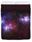 The Belt Stars Of Orion Duvet Cover by Robert Gendler