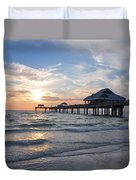The Best Sunsets At Pier 60 Duvet Cover