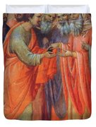 The Betrayal Of Judas Fragment 1311 Duvet Cover