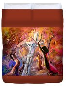 The Bible Crucifixion Duvet Cover