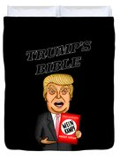 The Bible Of Trump Duvet Cover