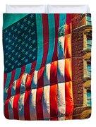 The Big Big Flag Duvet Cover