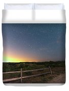 The Big Dipper Over The Lights Of Provincetown Ma Duvet Cover