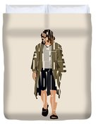 The Big Lebowski Inspired The Dude Typography Artwork Duvet Cover