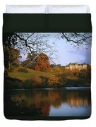 The Biltmore Estate Is Reflected Duvet Cover