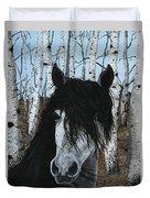 The Birch Horse Duvet Cover