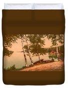 The Birches At Oak Birch Inn, Alton Bay, Lake Winnipesaukee, N. H.  Duvet Cover