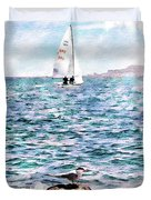 The Bird And The Sea Duvet Cover