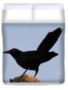 The Black Crow II Duvet Cover