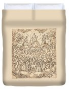 The Blessed In Paradise With The Virgin And St. John The Baptist Before God Duvet Cover