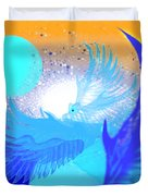 The Blue Avians Duvet Cover