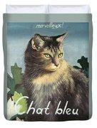 The Blue Cat Duvet Cover