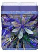 The Blue Flowers Of Melanie  Duvet Cover