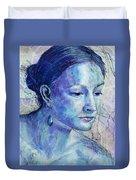 The Blue Jewel Duvet Cover