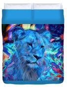 The Blue Lioness Duvet Cover