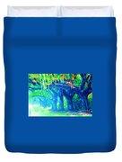 The Blue Live Oaks Duvet Cover