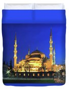 The Blue Mosque At Night Istanbul Turkey Duvet Cover