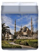 The Blue Mosque In Istanbul Turkey Duvet Cover