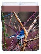 The Blue Of Winter In The Woods Duvet Cover
