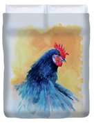 The Blue Rooster Duvet Cover