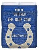 The Blue Zone Duvet Cover