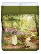 The Bluebell Glade Duvet Cover by Ernest Walbourn