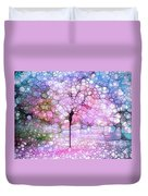The Blushing Tree In Bloom Duvet Cover