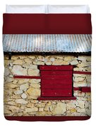 The Boarded Red Window Duvet Cover