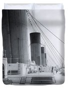 The Boat Deck Of The Titanic Duvet Cover