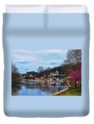 The Boat House Row Duvet Cover
