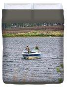 The Boater Duvet Cover