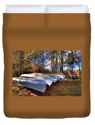 The Boats At Woodcraft Camp Duvet Cover