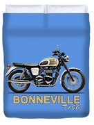 The Bonneville T100 Duvet Cover