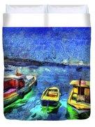 The Bosphorus Istanbul Art Duvet Cover