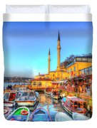 The Bosphorus Istanbul Duvet Cover