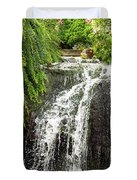 The Botanic Waterfall  Duvet Cover by Lori Frisch