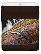 The Bottom Of Midway Geyser Basin Duvet Cover