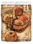 The Bountiful Feast - Asian Pears Duvet Cover
