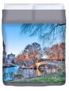 The Bow Bridge In Central Park Duvet Cover