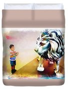 The Boy And The Lion 11 Duvet Cover