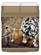The Boy And The Lion 13 Duvet Cover