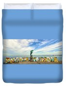 The Boy On The Seahorse Pano Duvet Cover
