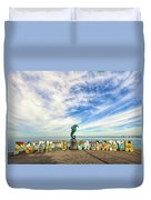 The Boy On The Seahorse Duvet Cover