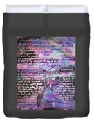 The Boy Who Lived Among The Star Duvet Cover
