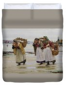 The Breadwinners Or Newlyn Fishwives Duvet Cover