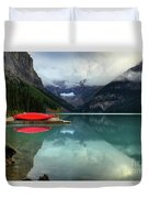 The Breathtakingly Beautiful Lake Louise Banff National Park Duvet Cover