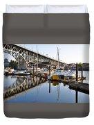The Bridge And Marina Duvet Cover